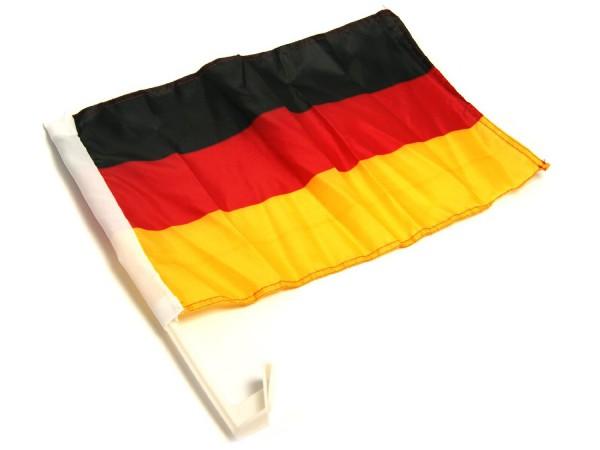 stabile große XL Deutschland Auto-KFZ-Fahne FLAGGE Bundes-Nationalfahne mit Fenster-Halter-Halterung